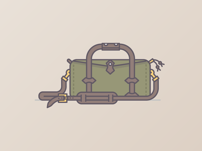 Filson Small Duffle - Otter Green graphic illustration filson branding duffle bags