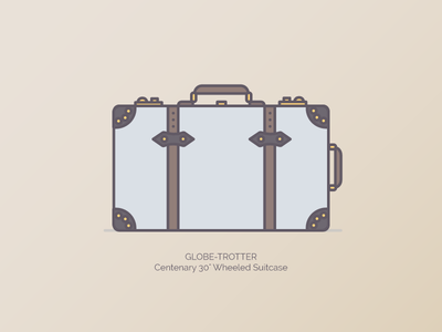 """GLOBE-TROTTER Centenary 30"""" Wheeled Suitcase graphic illustration branding duffle bags"""