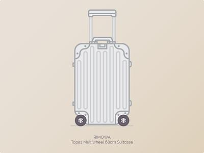 Rimowa Topas Multiwheel Suitcase  rimowa luggage graphic illustration branding duffle bags