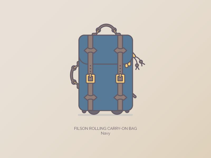 b501fbdefe3 Filson Carry On graphic illustration filson branding duffle bags
