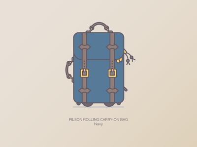 Filson Carry On graphic illustration filson branding duffle bags