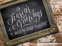 75 Holiday Chalk Overlays