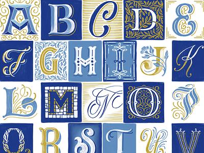 Paint Marker Drop Caps mwcm illustration lettering decorative illuminated lettering letters ampersand alphabet procreate handlettering typography drop caps