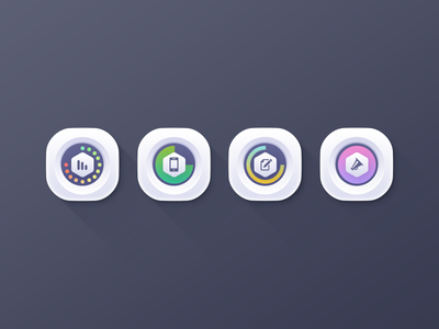 Data Icons icons data services mobile advertising usage iconset illustrations