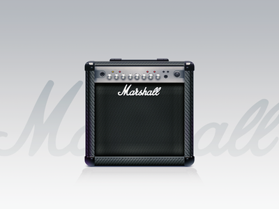 Marshall Amp illustrations music marshall amplifier rock and roll detail pattern semi-realistic