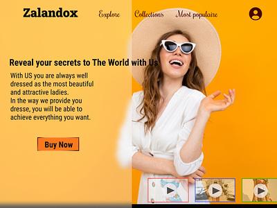 Shopping Website graphic design
