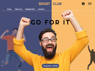 Sport Club Website graphic design