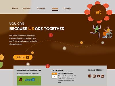 An event holder community website branding logo graphic design