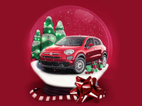 Fiat Snow Globe