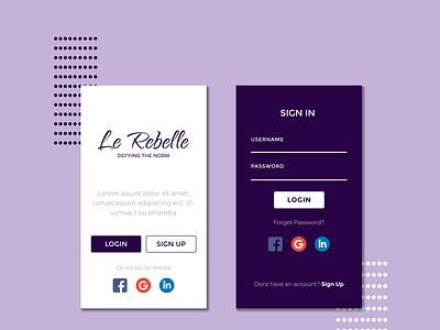 Le Rebelle UI icon ux branding design graphic design ui