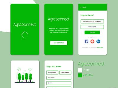 Agroconnect UI Design design ux graphic design ui