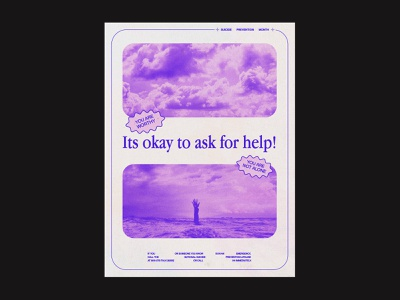 Suicide Prevention Poster typography design concept inspiration poster