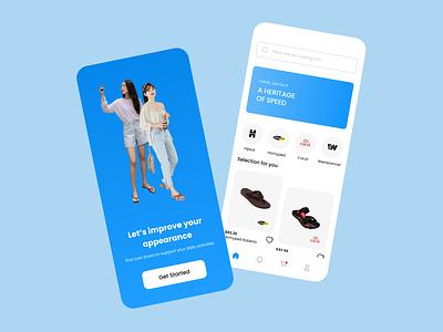 Sendal Online Store - Mobile App vector phone illustration icon design ux ui