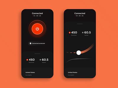 VPN app dark mode dark mode vector branding logo phone illustration icon app design ux ui
