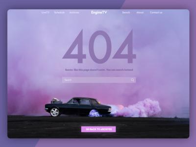 404 Shot web ux ui photo material interface colour tv background 404