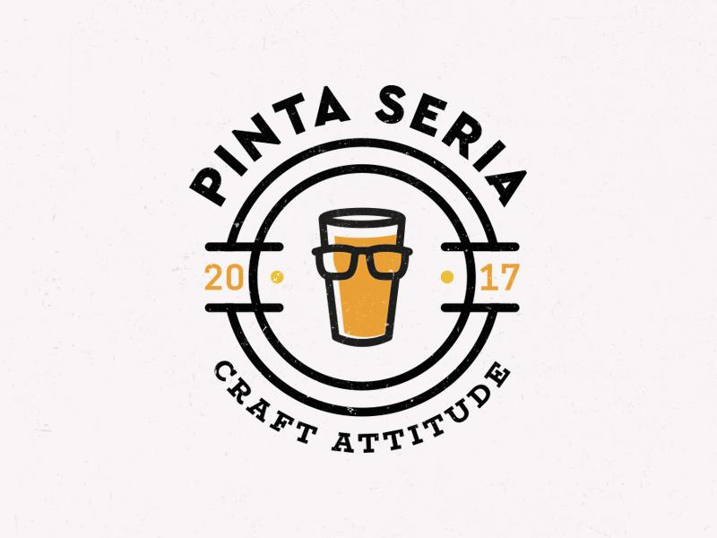 Pinta Seria pint logo beer