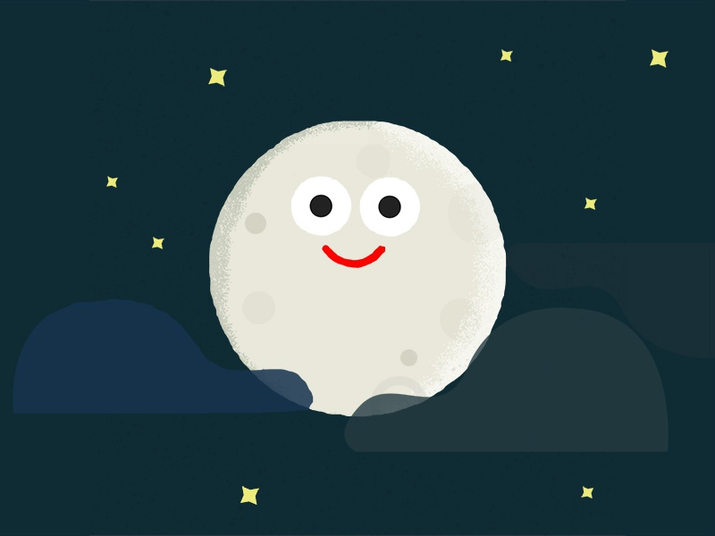 Moon vintage design illustration moon