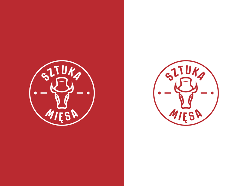 Sztuka Mięsa Logo beaf steak meat logo kitchen identity grill butcher branding