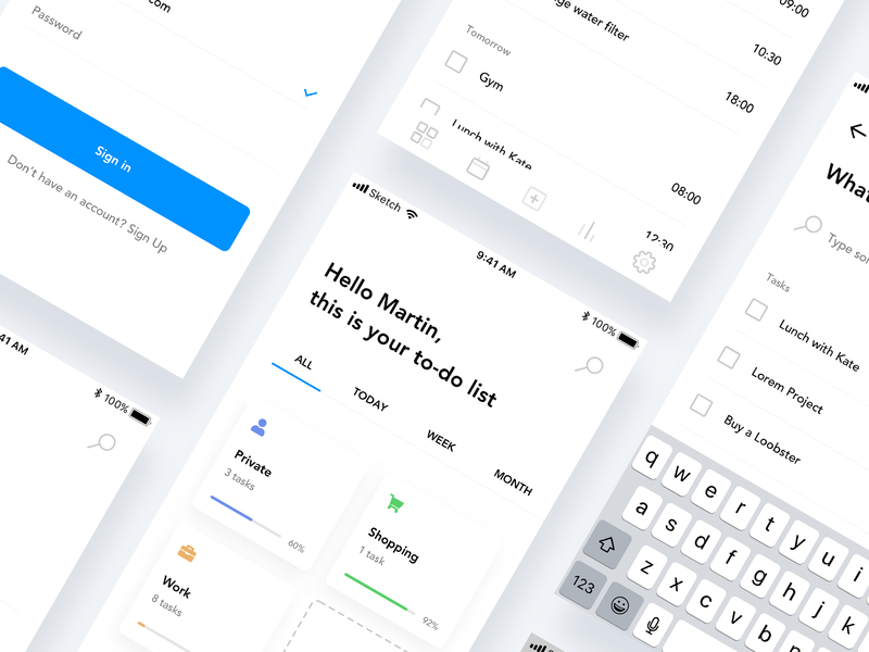To-doism Sneak Peek ui app uidesign todo app clear to-do minimalism clean user interface