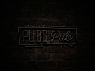 PUBG Pub Logo neonsign pubg esport neon gaming game design logo animation