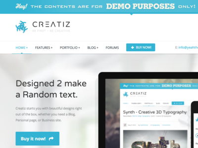 Creatiz WordPress theme - Designed to make a difference