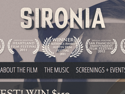 Single Page Website for Sironia Film