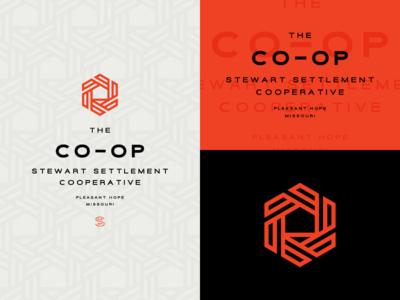The CO-OP pattern co-op shelter house farm field mark wordmark logo identity branding brand