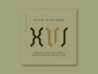 Five Sixteen logo typography blackletter illustration series music album art art album