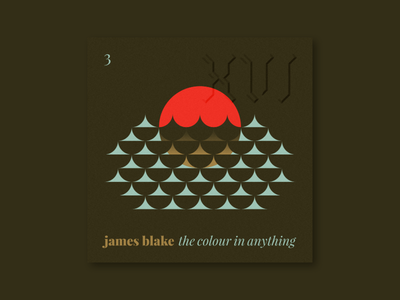 """Five Sixteen — James Blake """"The Colour in Anything"""" nature sea ocean waves symbol illustration series music art album"""