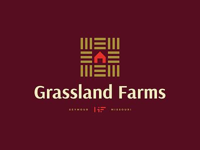 Grassland Farms grass barn farm identity brand logo