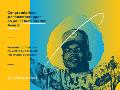 Chance the Rapper x Convoy of Hope hip-hop hope travel non profit convoy of hope chance the rapper graphic