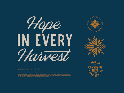 Hope in Every Harvest farm wheat hope harvest autumn fall typography type logo branding