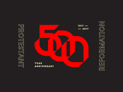 Protestant Reformation reformation 500 anniversary mark type logo