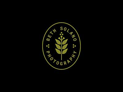 Beth Solano photography eucalyptus nature plant illustration mark icon brand badge logo