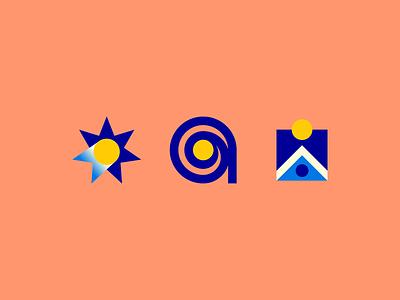 Australian Open tennis sports concepts brand mark logo