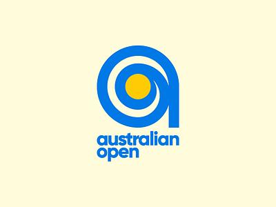 Australian Open australia a tennis sports brand mark logo