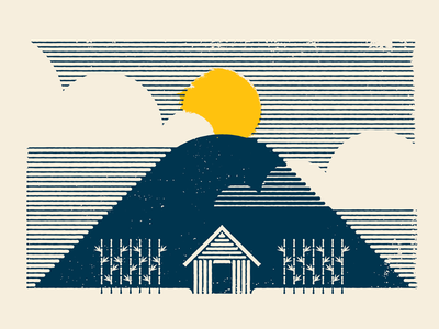 The Philippines philippines landscape clouds sun editorial illustration