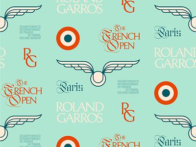 Roland Garros tennis sports type concept rebrand identity logo