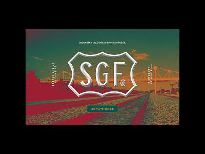SGFCO splash page splash page web design web