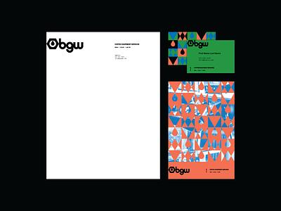 BGW collateral branding identity brand