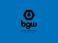 BGW water equipment industrial coffee typography icon mark branding identity brand logo