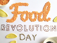Hand made food lettering