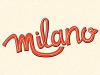 Hand lettering milano