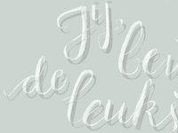 Hand lettering de leukste