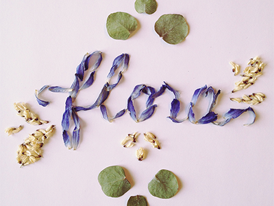 "Hand made lettering ""flora"""