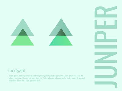 Juniper Branding logo minimal design branding