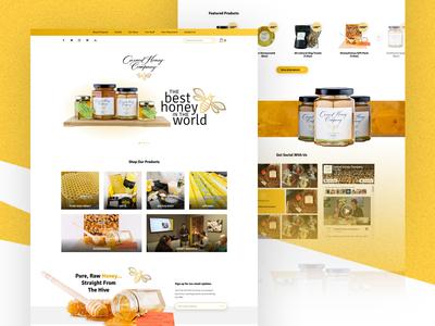 Carmel Honey Co. - Concept Home Page
