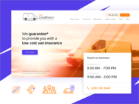 Home page design for Van Line Direct