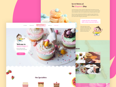 Home page design for a bakery hungry home bread bakery cake food ui typography ux designway graphic artistmichi illustration
