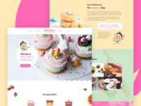 Home page design for a bakery